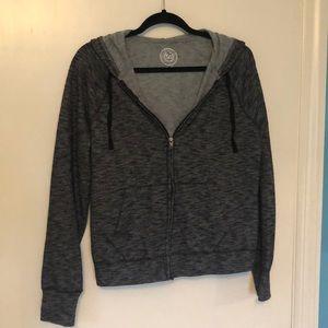 SO Gray Zip Up Hoodie Size XL